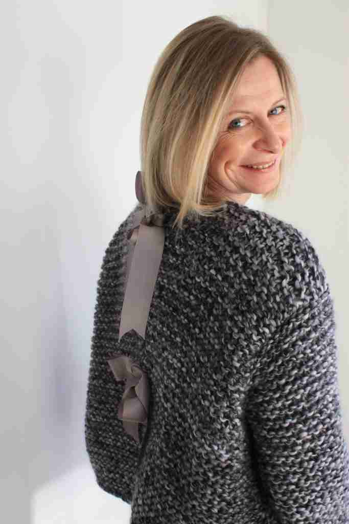 easy beginners knit cardigan pattern