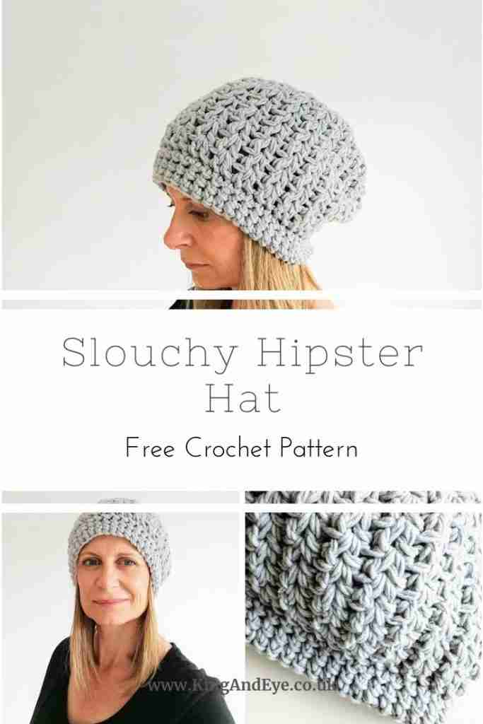 Slouchy hipster hat pin