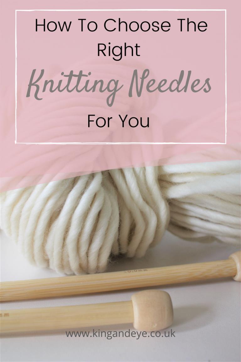 knitting needles and merino yarn