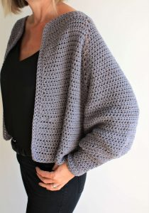 Balloon Sleeve Seamless Cardigan Pattern