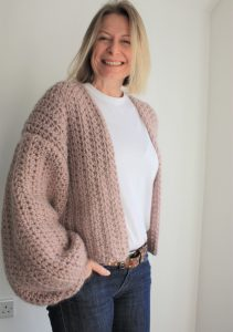 balloon sleeve cardigan easy crochet pattern